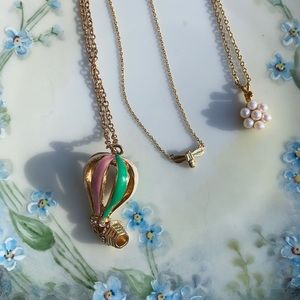 Gold tone necklace lot of 3